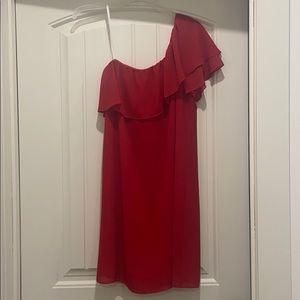 One shoulder dress from Dillard's